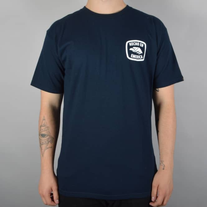 Emerica Small Hencho Skate T-Shirt - Navy