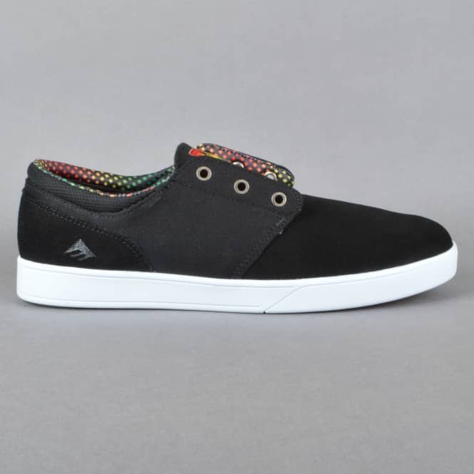 Emerica The Figueroa Skate Shoes - Black/Yellow/Black