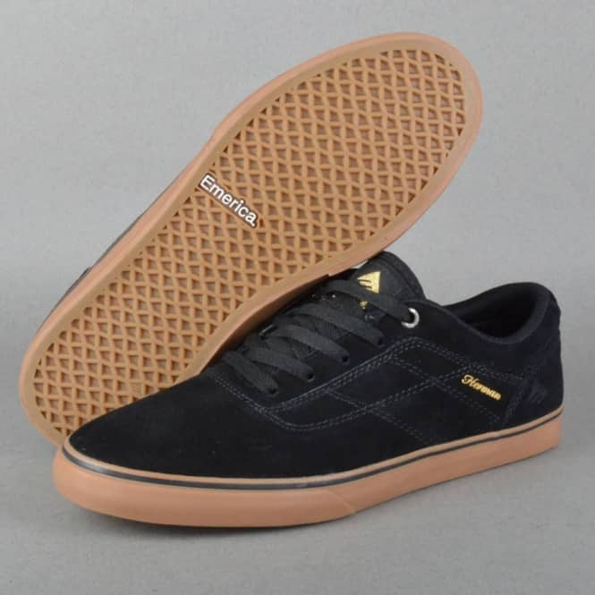 The Herman G6 Vulc Skate Shoes - Black/Gum