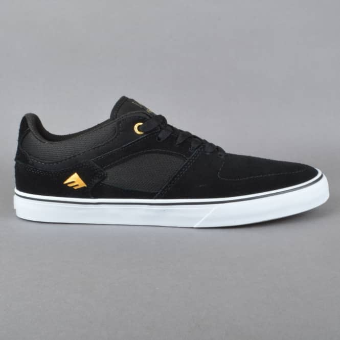 Emerica The Hsu Low Vulc Skate Shoes - Black/White