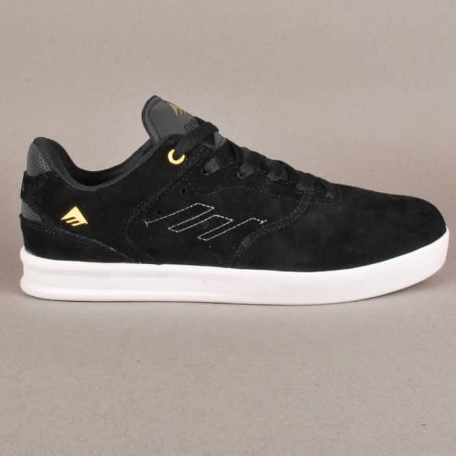 Emerica The Reynolds low - Black White Gold - SKATE SHOES from ... a6d02ff94e