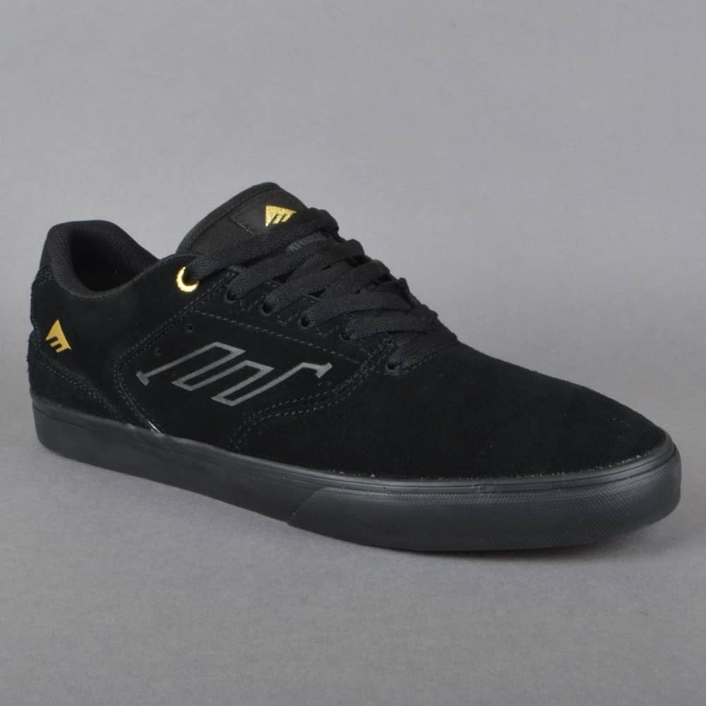 The Reynolds Low Vulc Skate Shoes - Black/Gold
