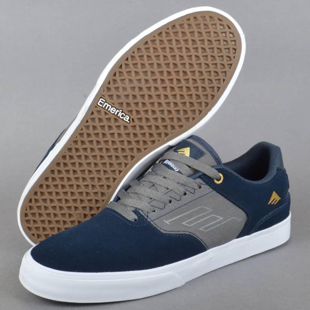 50457c423c5e Emerica The Reynolds Low Vulc Skate Shoes - Navy Grey - SKATE SHOES ...