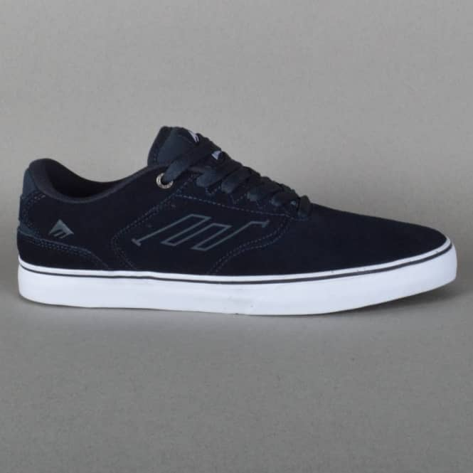 Emerica The Reynolds Low Vulc Skate Shoes - Navy/White/Gum