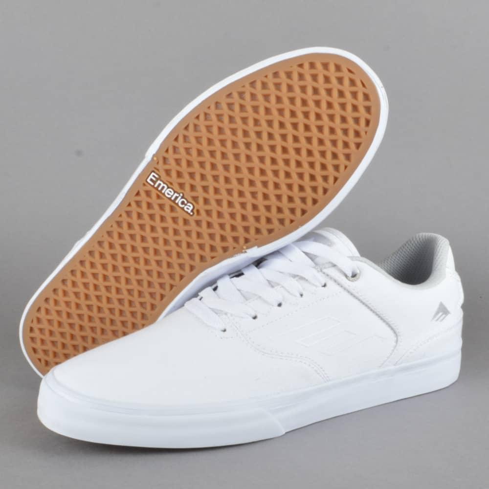 e47bf3dbc064 Emerica The Reynolds Low Vulc Skate Shoes - White - SKATE SHOES from ...