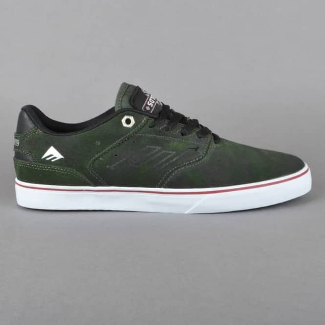 Emerica The Reynolds Low Vulc x Indy Skate Shoes - Dark Green