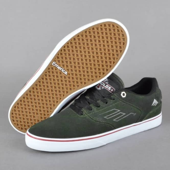 The Reynolds Low Vulc x Indy Skate Shoes - Dark Green
