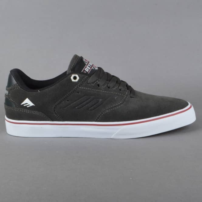 Emerica The Reynolds Low Vulc x Indy Skate Shoes - Dark Grey