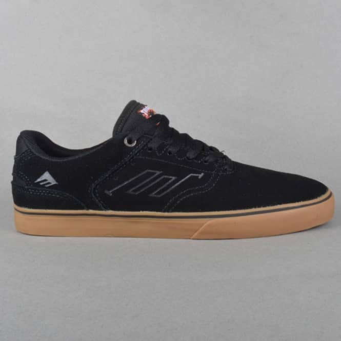 e77fe41363c Emerica The Reynolds Low Vulc x Thrasher Skate Shoes - Black Gum ...