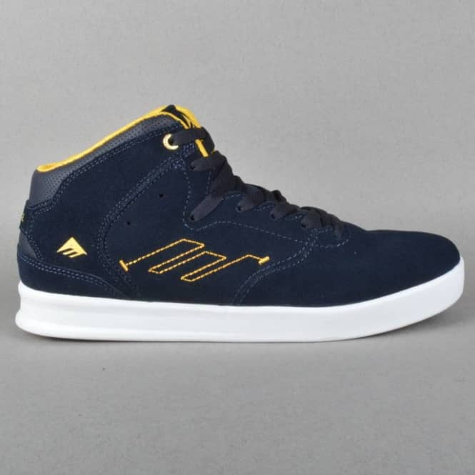 Emerica The Reynolds Skate Shoes - Navy/Yellow