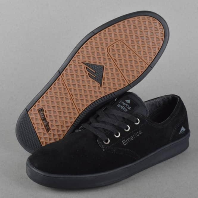 10ab098f42f Emerica The Romero Laced Skate Shoes - Black Black - SKATE SHOES ...