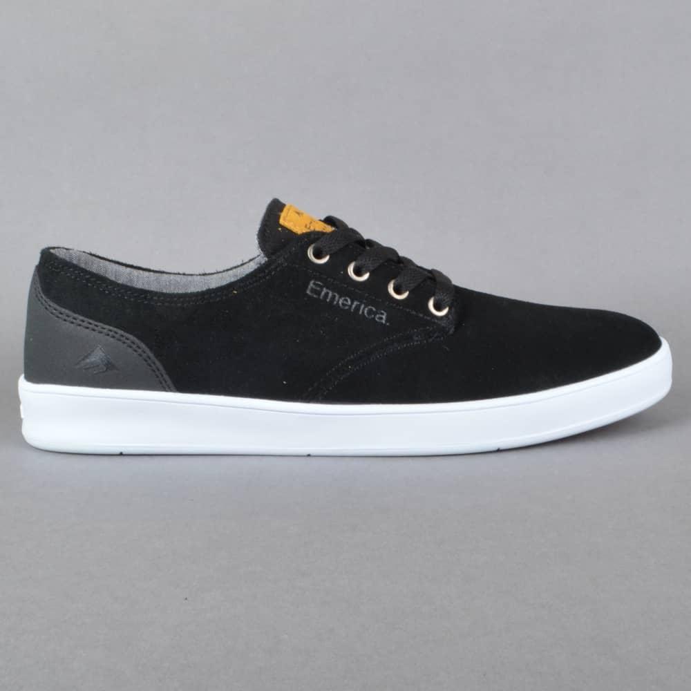 The Romero Laced Skate Shoes - Black/Black/White