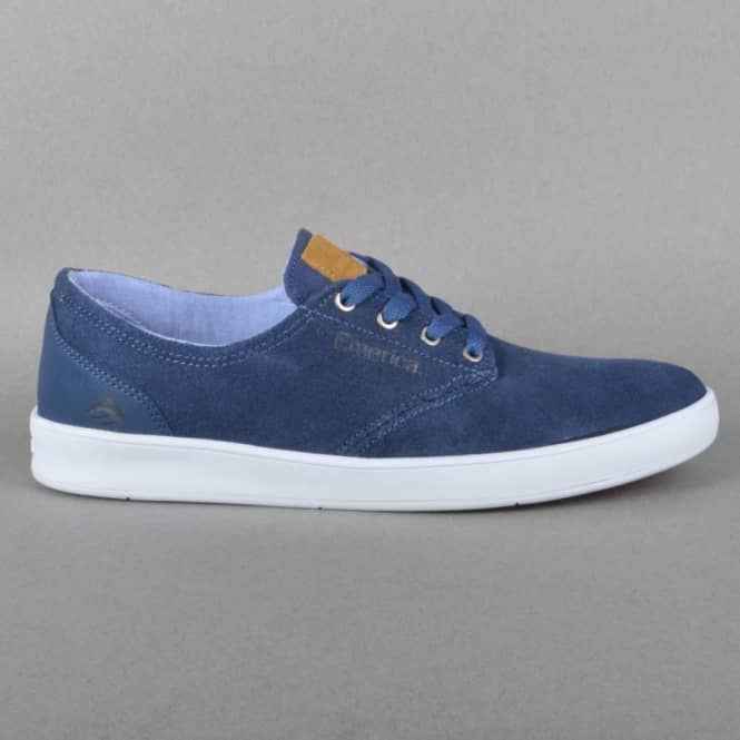 Emerica The Romero Laced Skate Shoes - Blue/Blue/White