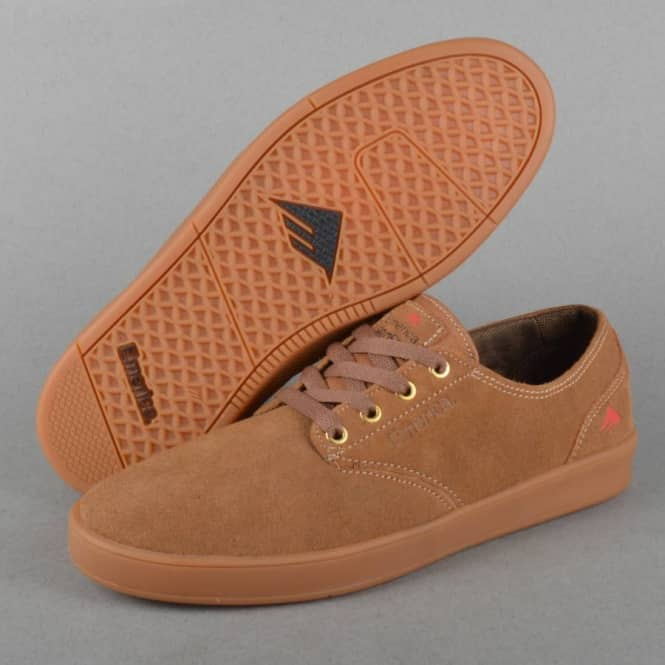 The Romero Laced Skate Shoes - Brown/Brown/Gum