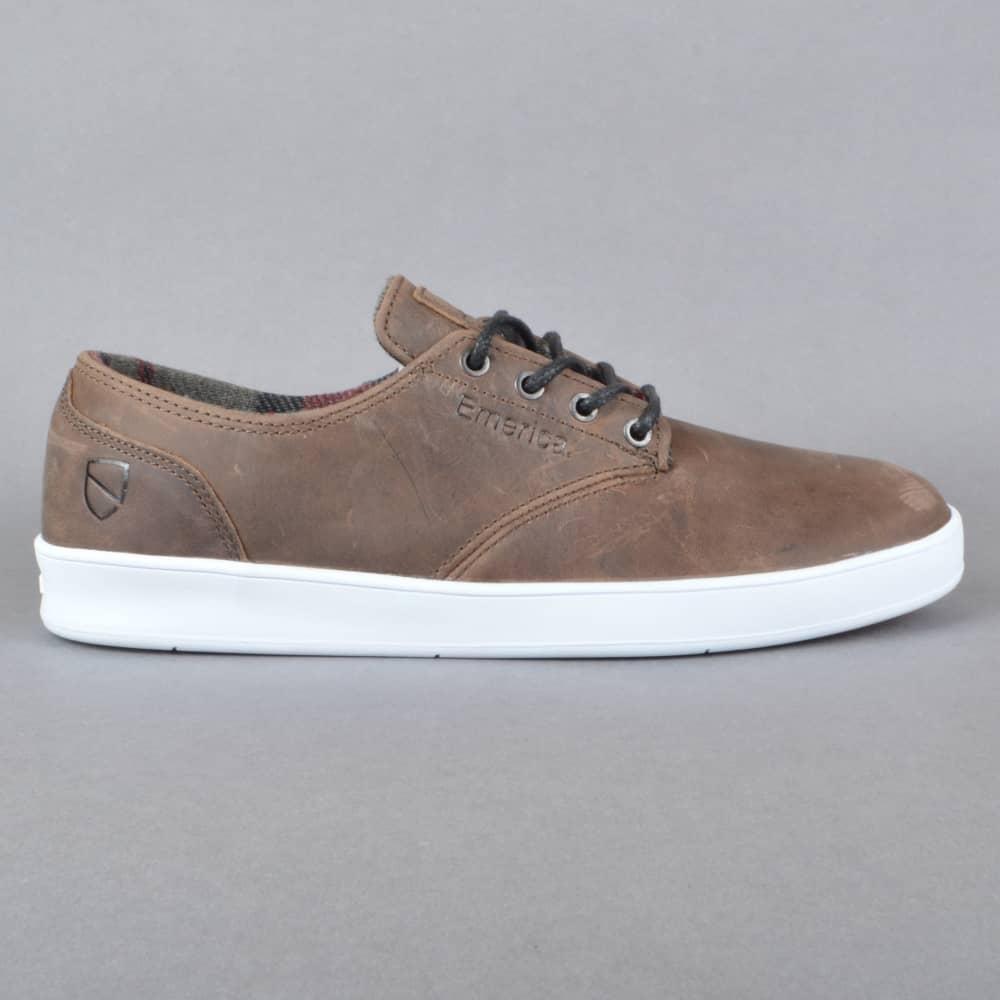 The Romero Laced x ESWIC Skate Shoes  BrownWhite