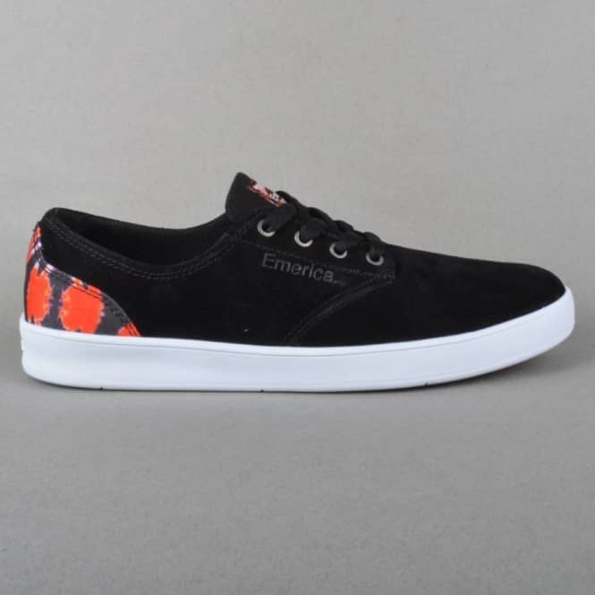 Emerica The Romero Laced x Thrasher Skate Shoes - Black/White