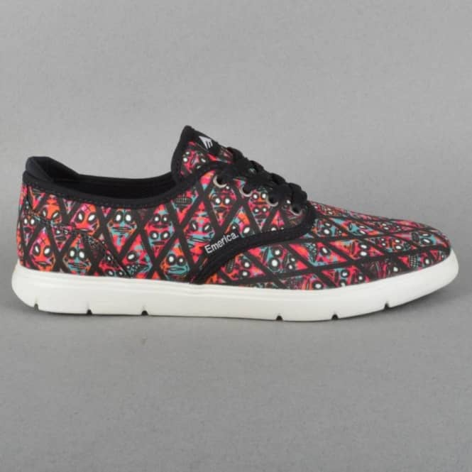 Emerica The Wino Cruiser LT X FOS Black/Print Skate Shoes