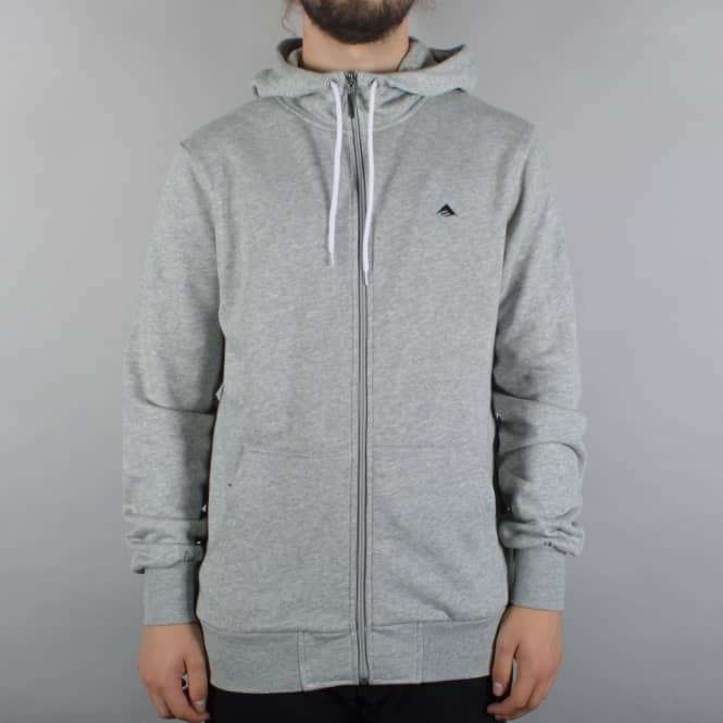 Emerica Triangle 2 Zip Hoodie - Grey/Black