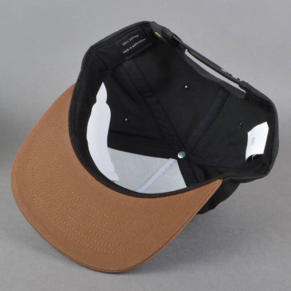 ba9072e7f Triangle Snapback Cap - Black/Brown