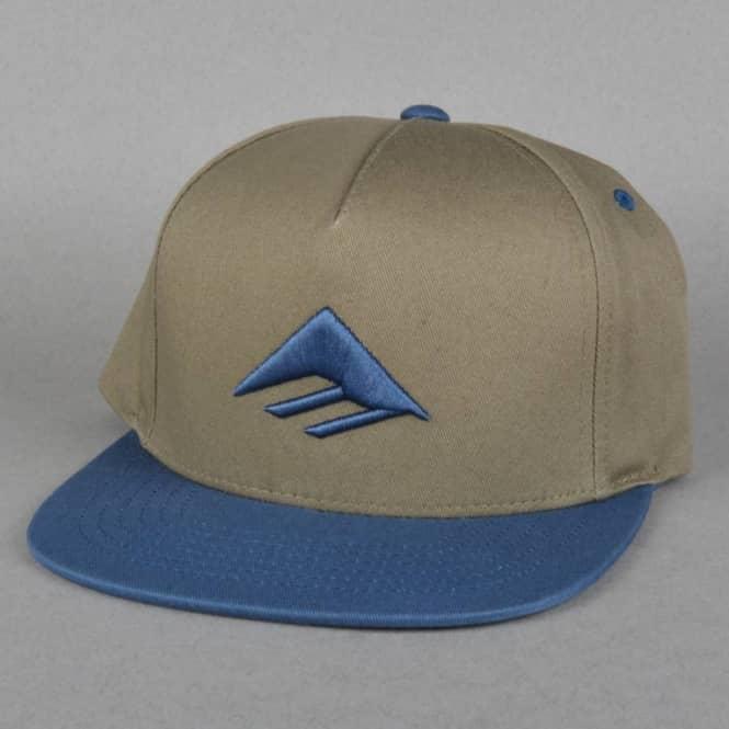 6e1c192d9 Triangle Snapback Cap - Brown/Navy