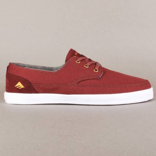 Emerica Emerica Troubadour Low Skate Shoes - Maroon