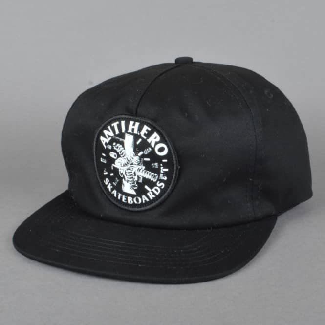 Antihero Skateboards Engineering Patch Snapback Cap - Black