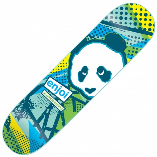 Enjoi Skateboards 1985 Called Blue/Yellow Skateboard Deck 8.0