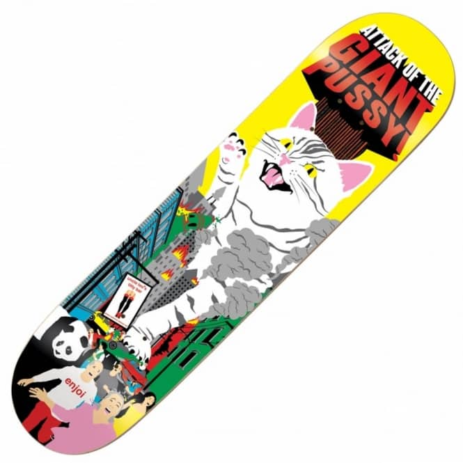 Enjoi Skateboards Barletta Monster Movie Impact Plus Skateboard Deck 8.0