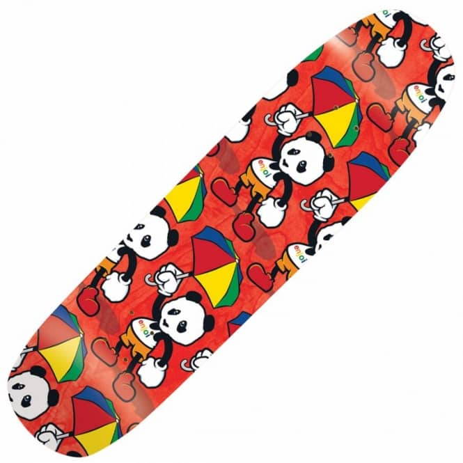Enjoi Skateboards Cartoon Multi Panda Skateboard 8.375''