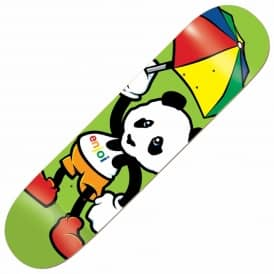 Enjoi Skateboards Cartoon Panda Green Skateboard Deck 8.0""