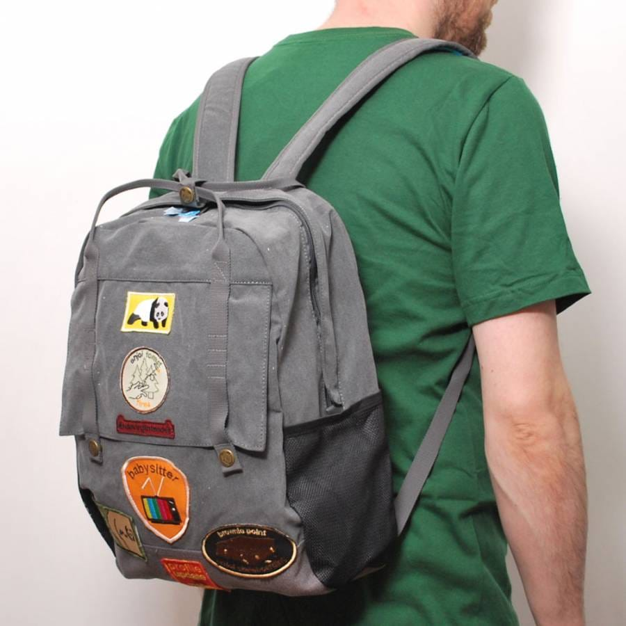 how to make a backpack out of a sack