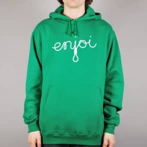 Enjoi Skateboards Enjoi Script Pullover Hoodie - Kelly Green