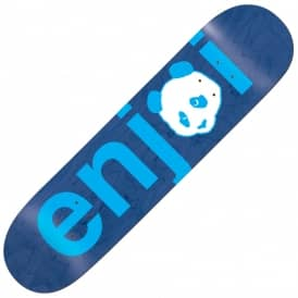 Enjoi Skateboards No Brainer Blue Skateboard Deck 8.0""
