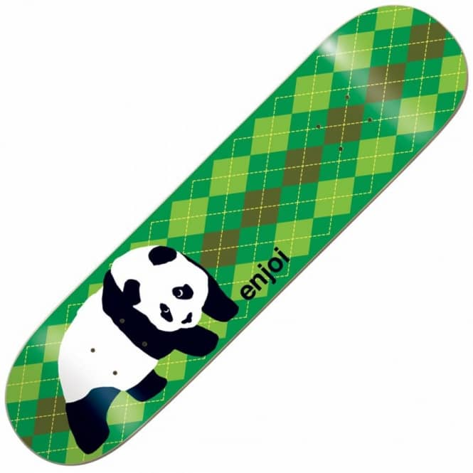 Enjoi Skateboards Original Panda Argyle Skateboard Deck 8.5