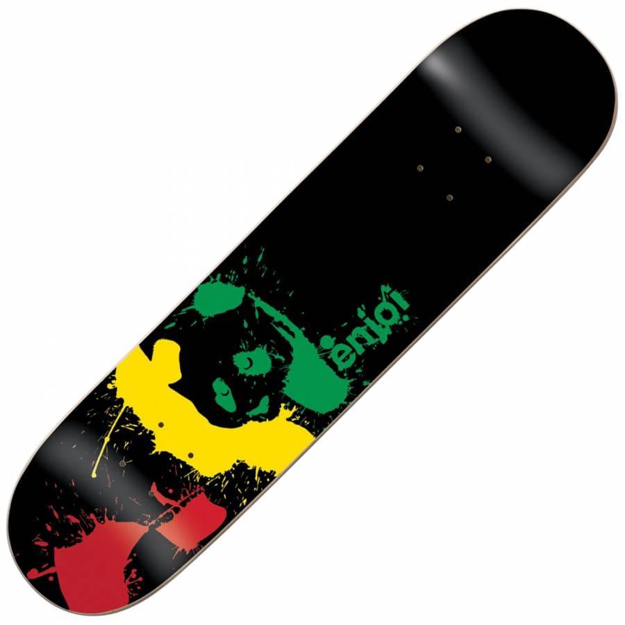 Enjoi skateboards paint splatter rasta skateboard deck 8 0 for Best paint for skateboard decks