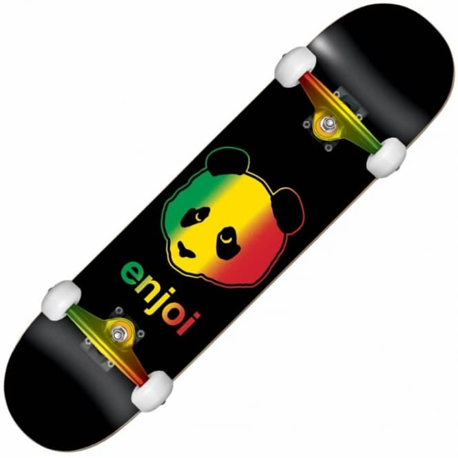 Enjoi Skateboards Rastafari Panda Complete Skateboard 7.5""