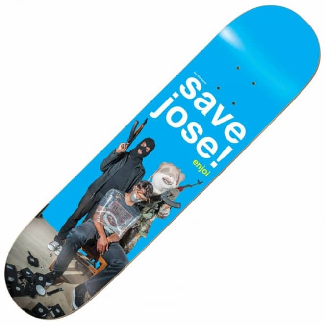 Enjoi Skateboards Save Jose Skateboard Deck 8.0