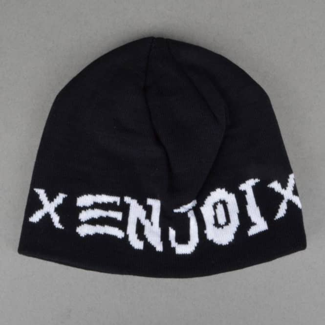 Enjoi Skateboards Skate And Enjoi Beanie - Black