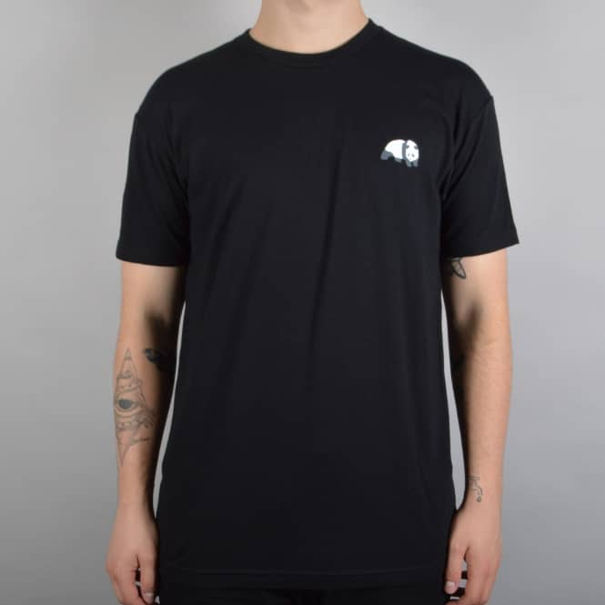 Enjoi Skateboards Small Panda Logo Skate T-Shirt - Black