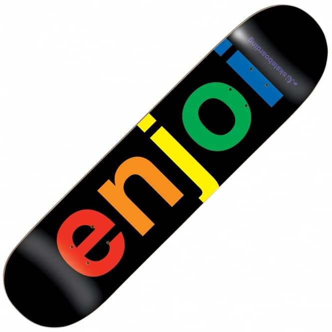 Enjoi Skateboards Spectrum Black Skateboard Deck 8.25