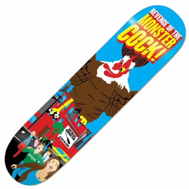Enjoi Skateboards Wallin Monster Movie Impact Plus Skateboard Deck 8.25