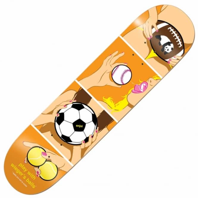 Enjoi Skateboards Wieger How To Skateboard Deck 8.375