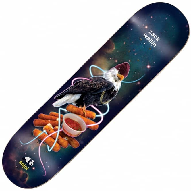 Enjoi Skateboards Zack Wallin Snack Surfer V2 Impact Light Skateboard Deck 8.25