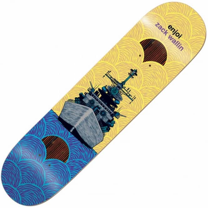 Enjoi Skateboards Zack Wallin Vessels Impact Plus Skateboard Deck 8.38