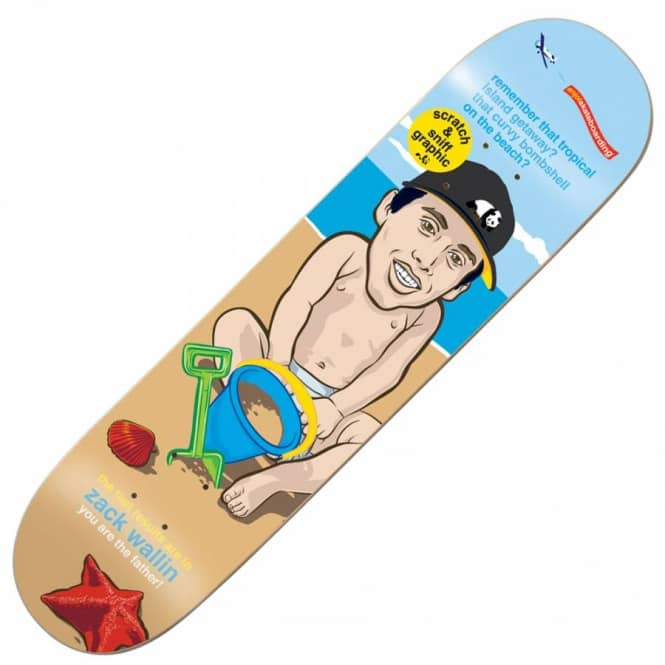 Enjoi Skateboards Zack Wallin You Are The Father Skateboard Deck 7.75''