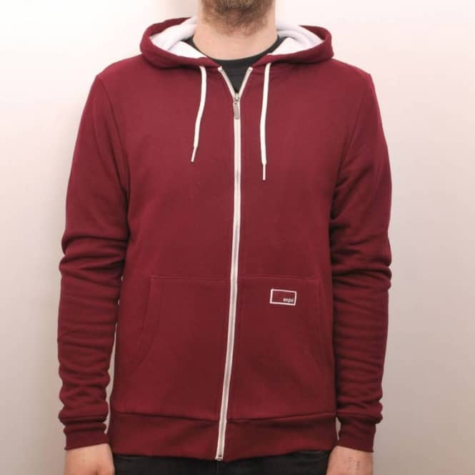 Enjoi Skateboards Enjoi Thick Like Fog Zip Hooded Top Burgundy