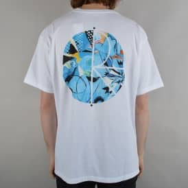 Escape Route Fill Logo Skate T-Shirt - White