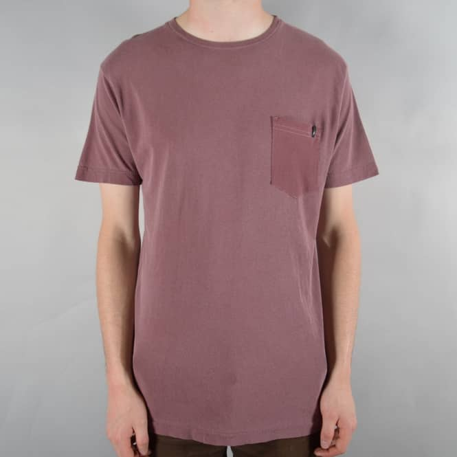 Altamont Essential Pocket T-Shirt - Oxblood