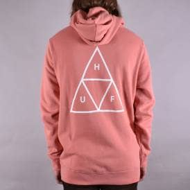 Essentials Triple Triangle Pullover Hoodie - Coral Haze