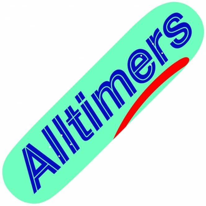 Alltimers Estate Robins Egg Logo Skateboard Deck 8.25